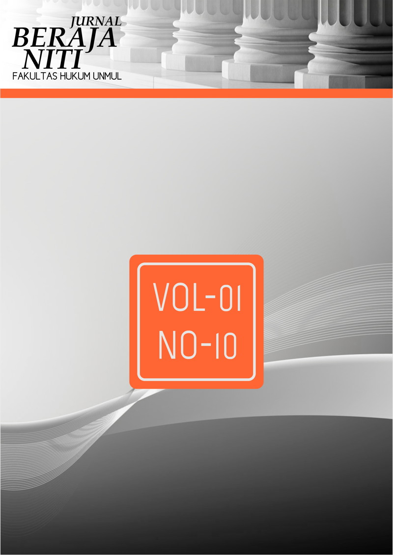 Jurnal Beraja Niti Vol-01 No-10