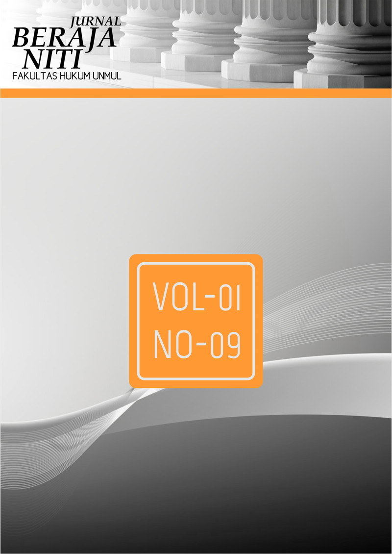 Jurnal Beraja Niti Vol-01 No-09