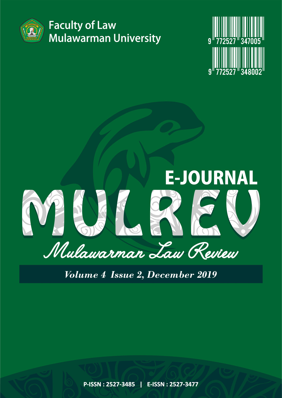 Cover Mulrev Volume 4 Issue 2 December 2019