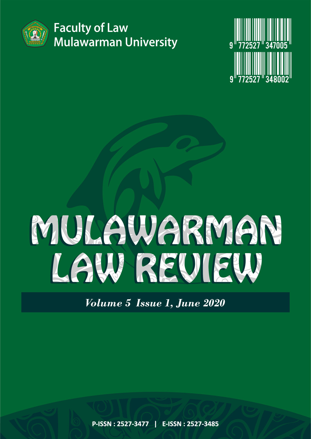 COVER MULREV VOLUME 5 ISSUE 1 JUNE 2020