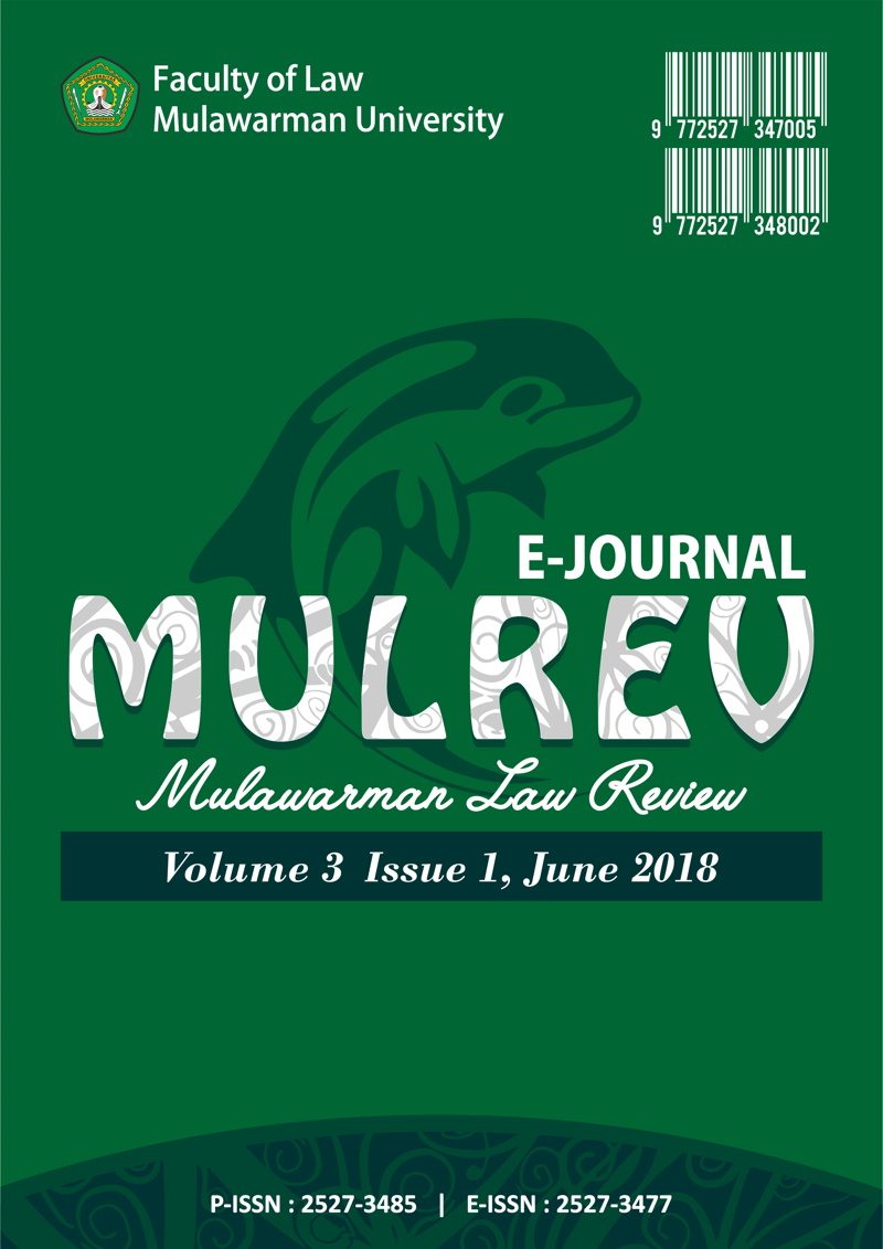 Cover Mulrev Volume 3 Issue 1 June 2018